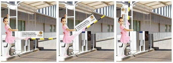 Креативная реклама детского танцевального центра