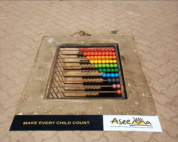 Креативная реклама развивающих курсов для детей